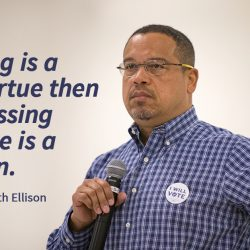 EPISODE 77: Solidarity IS resistance – with special guests Congressman & DNC Deputy Chair Keith Ellison and Rev. Brian Ellison