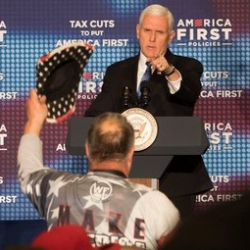 Vice President Pence has been on a nationwide cheerleading tour for the wildly unpopular #TrumpTaxScam since January