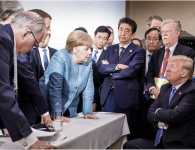 G7 Summit Clown Donald Trump takes his alpha male, narcissistic circus on the road, gets trolled by his international counterparts