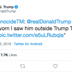 Trump knows he needs social media Nazi-friendly in order to win in 2020
