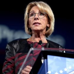 Betsy DeVos is trying to buy herself a second term