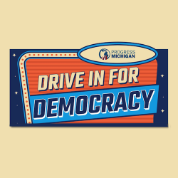 "Want to watch the election returns in Michigan at a drive-in ""theater""? Sign me (and YOU) up!"