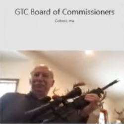 Michigan County Commissioner brandishes assault-style weapon during County Commission meeting