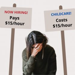 If you want people to go back to work, child care IS infrastructure, especially during a global pandemic