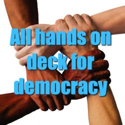 All hands on deck for democracy – with special guest Marcy Wheeler
